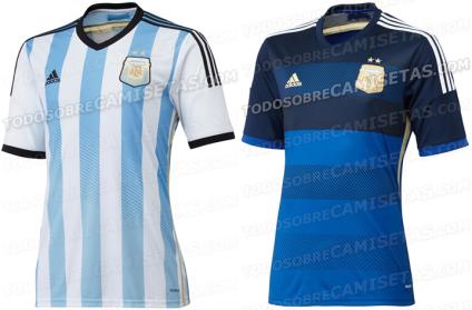 Argentina maglia Mondiali Brasile 2014 home away