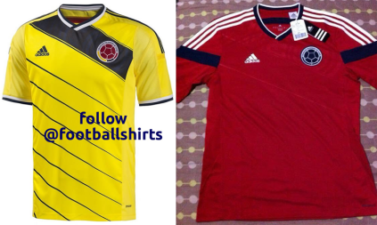 Colombia maglia Mondiali Brasile 2014 home away