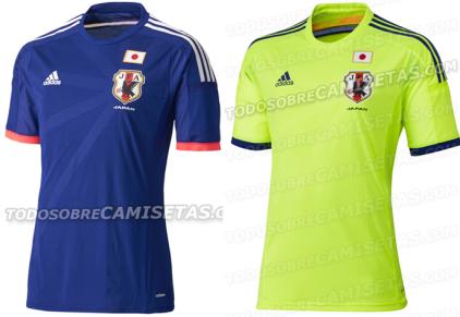 Giappone maglia Mondiali Brasile 2014 home away