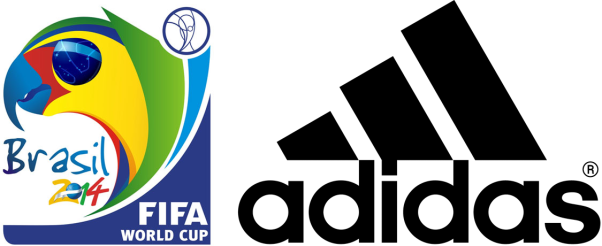 Logo Adidas Brasile 2014 Mondiali