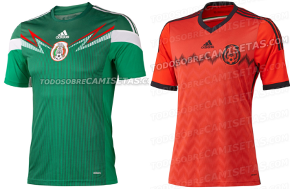 Messico maglia Mondiali Brasile 2014 home away