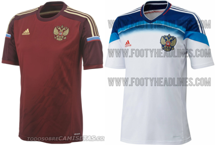 Russia maglia Mondiali Brasile 2014 home away