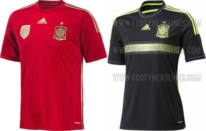 Spagna maglia Mondiali Brasile 2014 home away