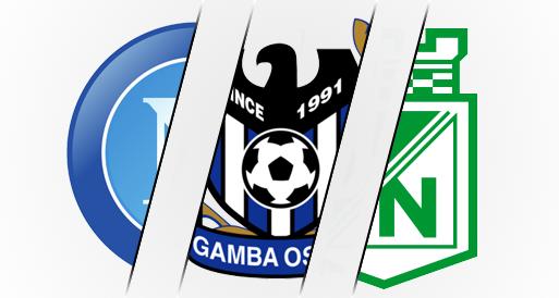 Napoli Gamba Osaka Atletico Nacional Logo Fusion