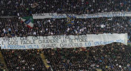 Chiusura Curva Striscione Calcio Discriminazione Territoriale Tosel