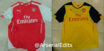 Arsenal Leaked Home Away Jersey 2014 2015