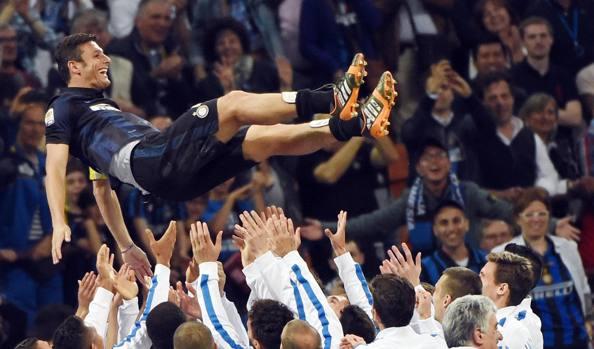Zanetti Inter festeggiamenti