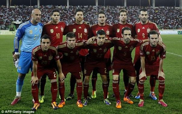 Formazione Spagna 2014