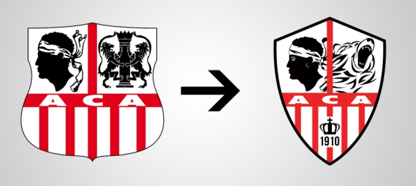 New Logo Ajaccio Old