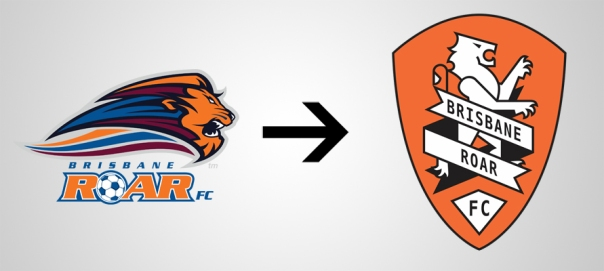 New Logo Brisbane Roar Old
