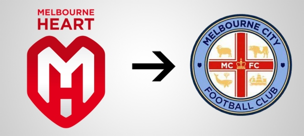 New Logo Melbourne City Old