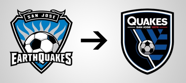 New Logo San Josè Earthquakes Old