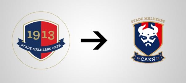 New Logo Caen Old