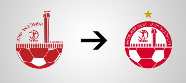 New Logo Hapoel Be'er Sheva Old