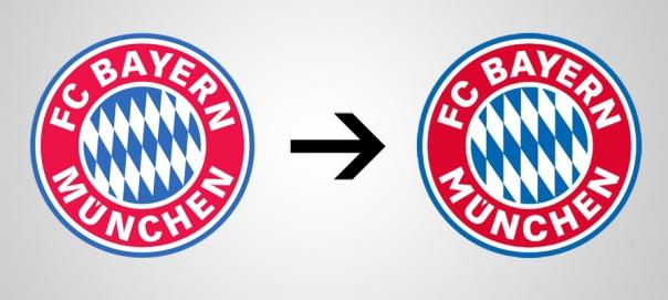 Bayern Munchen New Old Logo